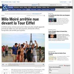 Milo Moiré arrêtée nue devant la Tour Eiffel