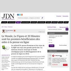 Le Monde, Le Figaro et 20 Minutes sont les premiers bénéficiaires des aides à la presse en ligne