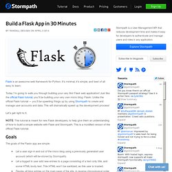 Build a Flask App in 30 Minutes