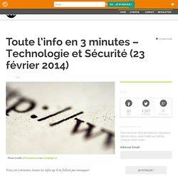 Technologie et Sécurité (23 février 2014)