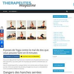 8 poses de Yoga contre le mal de dos que vous pouvez faire en 8 minutes - Therapeutes magazine