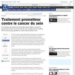Traitement prometteur contre le cancer du sein