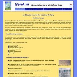 GenAmi : Le Minutier central des notaires de Paris