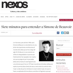 Siete minutos para entender a Simone de Beauvoir