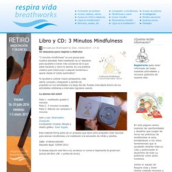Libro y CD: 3 Minutos Mindfulness