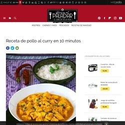 Pollo al curry en 10 minutos. Receta de cocina fácil, sencilla y deliciosa