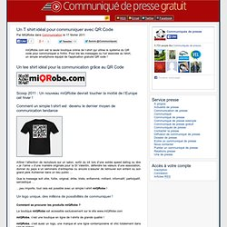 miQRobe.com : le t-shirt communiquant avec QR Code est né