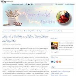 Nage de Mirabelles au Safran, Crème Glacée au Gingembre