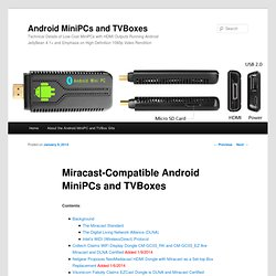 Miracast-Compatible Android MiniPCs and TVBoxes