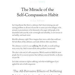 The Miracle of the Self-Compassion Habit
