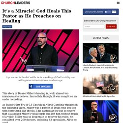It's a Miracle! God Heals This Pastor as He Preaches on Healing