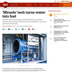'Miracle' tech turns water into fuel