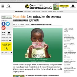 NAMIBIE • Les miracles du revenu minimum garanti | Courrier inte
