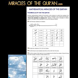 Miracles of the Qur'an - Modern Science Reveals New Miracles of the Qur'an