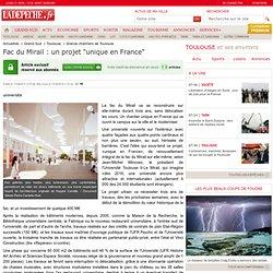 """Fac du Mirail : un projet """"unique en France"""" - 17/04/2013"""