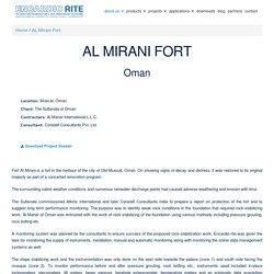 Al Mirani Fort Monitoring Instrumentation by Encardio-rite