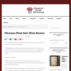Mirassou Pinot Noir Wine Review - Honest Wine Reviews