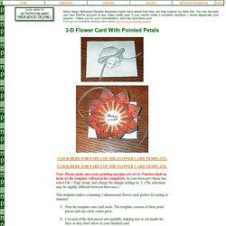 Mirkwood Designs - Pointed Flower Card