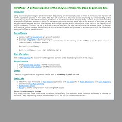 A software for the analysis of microRNA Deep Sequencing data