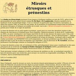 Miroirs étrusques ou prénestins