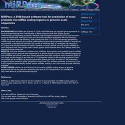 miRPara Online