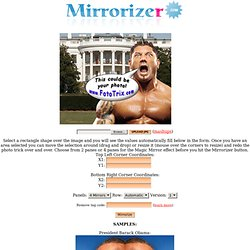 Magic Mirror Tool - Cropping And Mirroring Of Photos Online