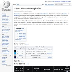 List of Black Mirror episodes - Wikipedia