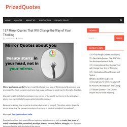 Inspiring Quotes about Mirror