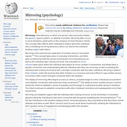 Mirroring (psychology)