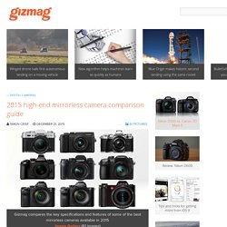 2015 high-end mirrorless camera comparison guide