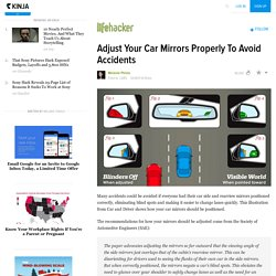 Adjust Your Car Mirrors Properly To Avoid Accidents