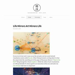 Life Mirrors Art Mirrors Life - Skyrail Social Network Visualisation