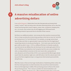 chris dixon's blog / A massive misallocation of online advertising dollars