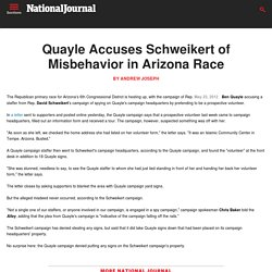 Quayle Accuses Schweikert of Misbehavior in Arizona Race - Influence Alley