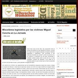 Miscelánea legislativa por las víctimas/ Miguel Concha en La Jornada