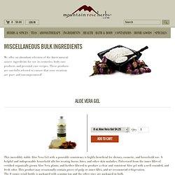 Miscellaneous Bulk Ingredients – Mountain Rose Herbs