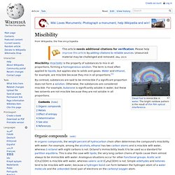 Miscibility