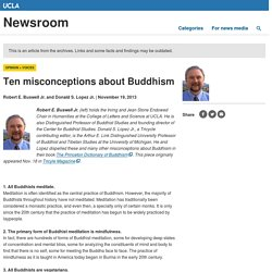 Ten misconceptions about Buddhism