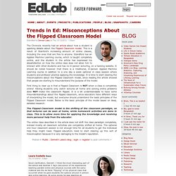 Trends in Ed: Misconceptions About the Flipped Classroom Model