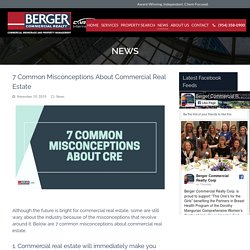 7 Common Misconceptions About Commercial Real Estate