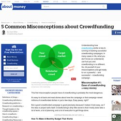 Common Misconceptions about Crowdfunding