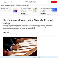 Five Common Misconceptions About the Electoral College