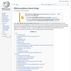 List of urban legends about illegal drugs