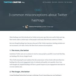 3 common misconceptions about Twitter hashtags