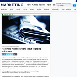 Marketers' misconceptions about engaging influencers