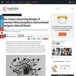 Non-Linear eLearning Design: 6 Common Misconceptions Instructional Designers Should Know