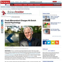 Fresh Misconduct Charges Hit Dutch Social Psychology