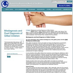 Misdiagnosis and Dual Diagnosis of Gifted Children « SENG
