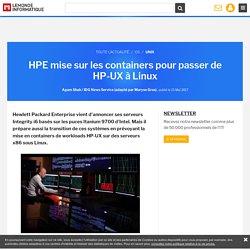 HPE mise sur les containers pour passer de HP-UX à Linux