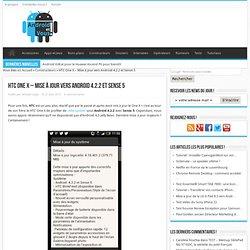 HTC One X - Mise à jour vers Android 4.2.2 et Sense 5